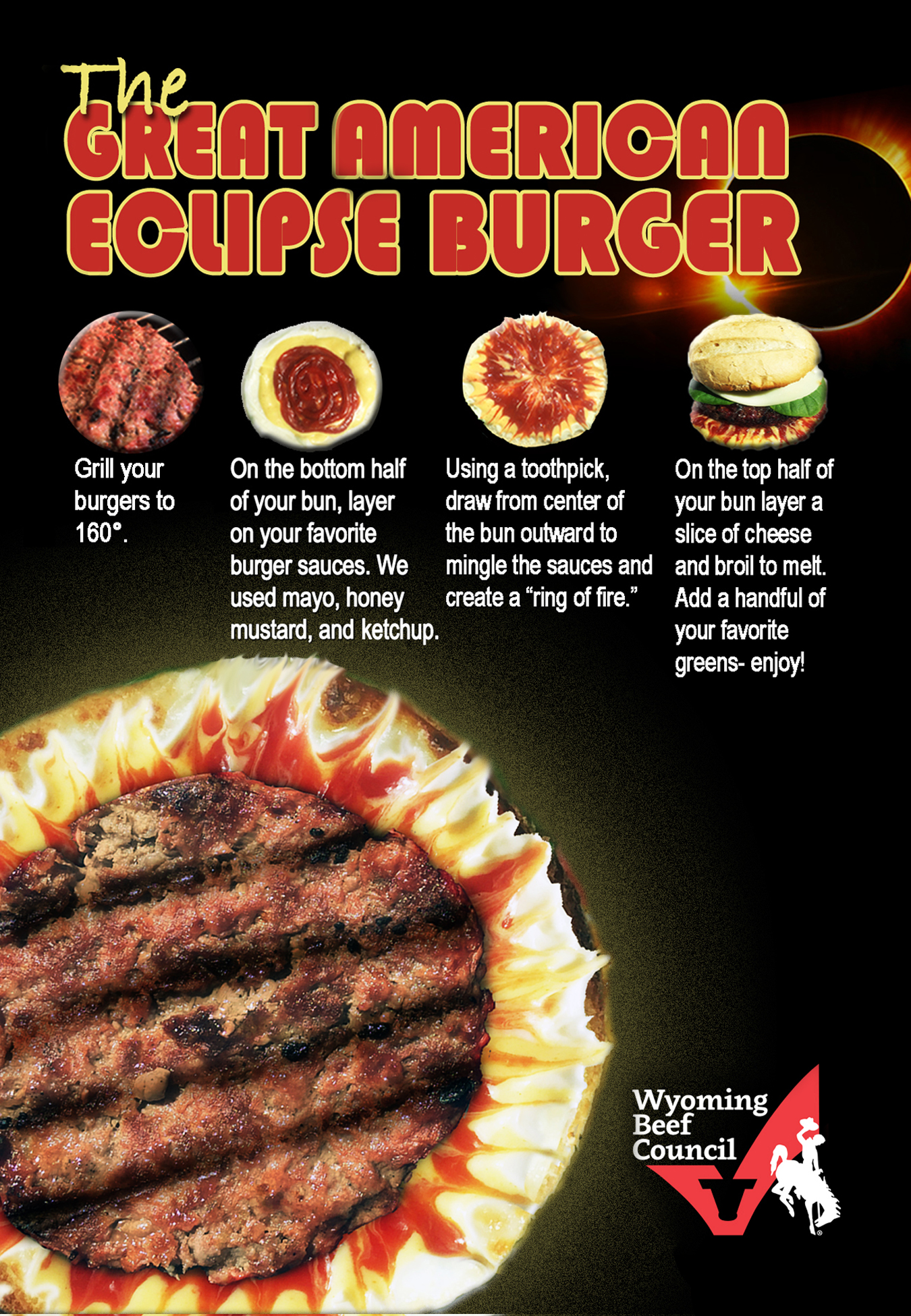 Celebrate the historic eclipse in style with the Great American Eclipse Burger