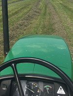 View of field from a Tractor